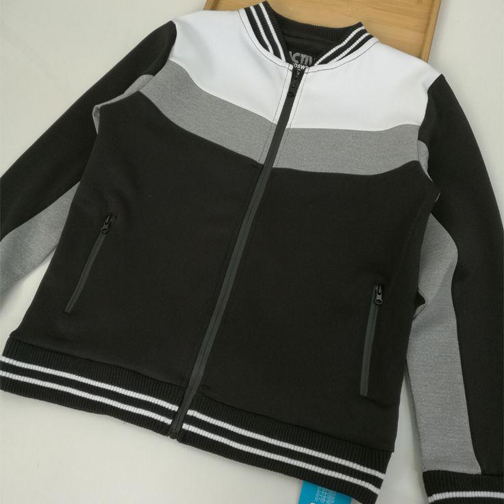 Весной и осенью британский экспорт оригинальных одиноких мужчин и детской одежды хлопка с длинными рукавами спортивной рубашки мальчик большой мальчик кардиган куртки - Taobao