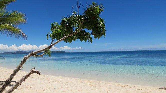 Fiji Islands on a pleasant sunny day
