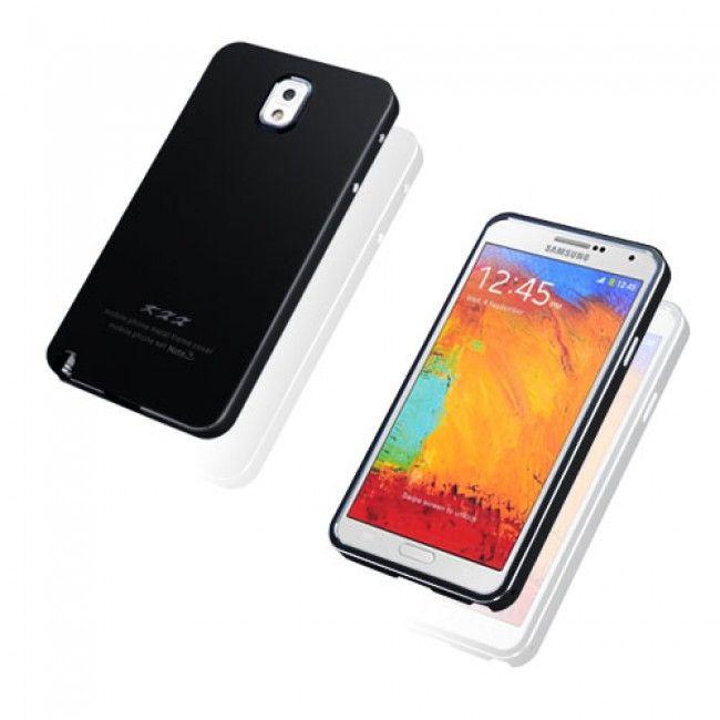 KXX (Musta) Samsung Galaxy Note 3 Metalli Suojakuori - http://lux-case.fi/catalog/product/view/id/23787/s/kxx-black-samsung-galaxy-note-3-metal-case/