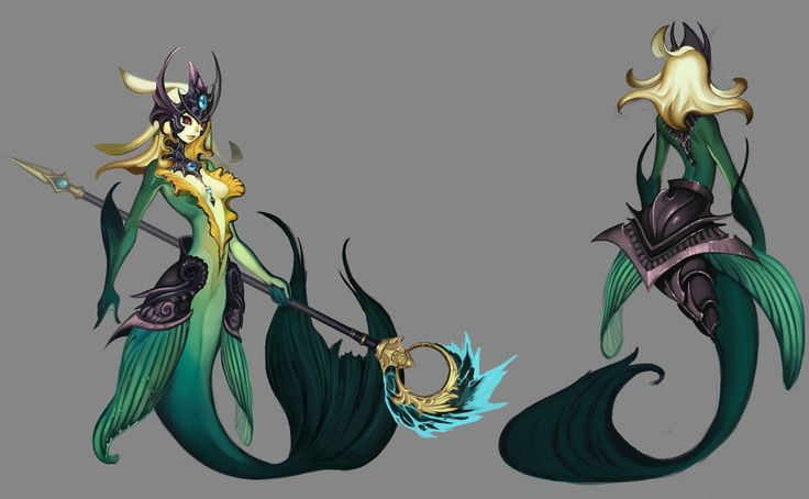 Nami The Tidecaller from League of Legends Concept Art.  Mermaid, Sea Maiden, Water Creature, Guardian