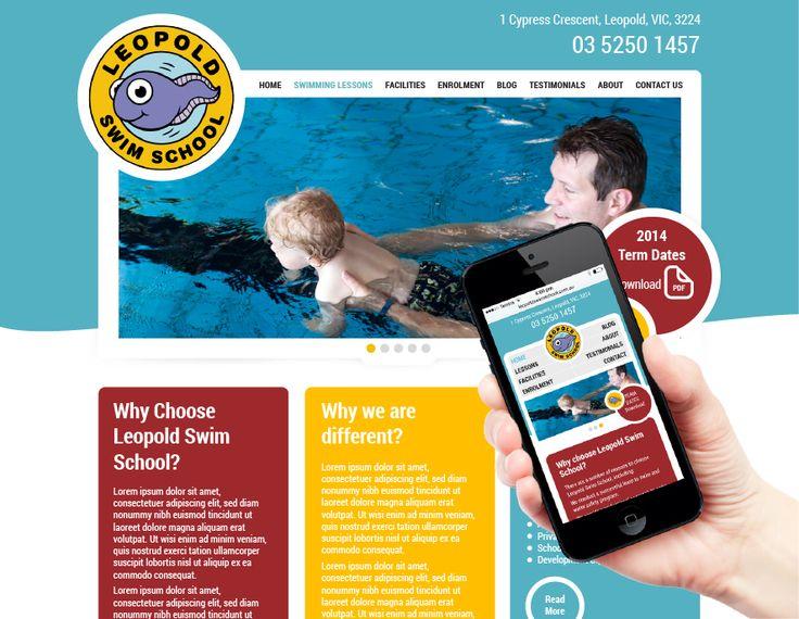 Leopold Swim School Responsive Website Design - Martlette Graphic Design Geelong www.martlette.com.au