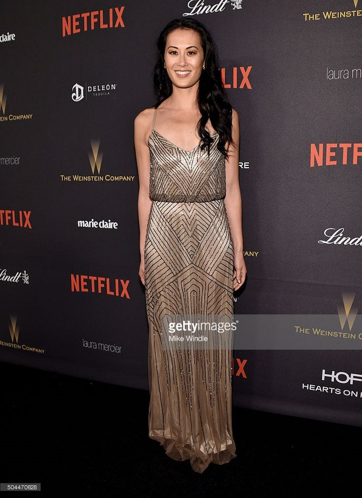 Actress Olivia Cheng attends The Weinstein Company and Netflix Golden Globe Party, presented with DeLeon Tequila, Laura Mercier, Lindt Chocolate, Marie Claire and Hearts On Fire at The Beverly Hilton Hotel on January 10, 2016 in Beverly Hills, California.