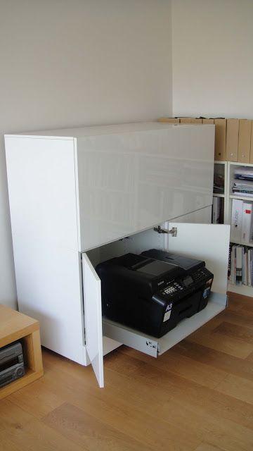 IKEA Hackers: Box Office multimedia workstation BG: sowas würden wir gern in flacher und breiter nachahmen, geht mit IKEA Küchenschränken; Farbe ist noch offen; weiß beißt sich eventuell mit den anders weißen Regalen? Eventuell eichenplatte oben drauf
