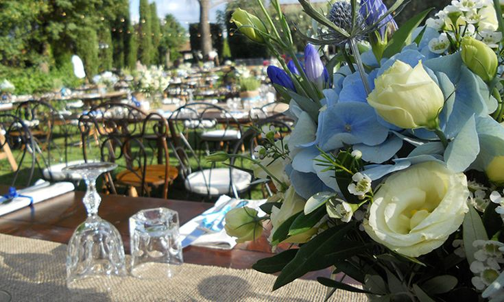 Fiori blu per un matrimonio rustico chic   La Gardenia