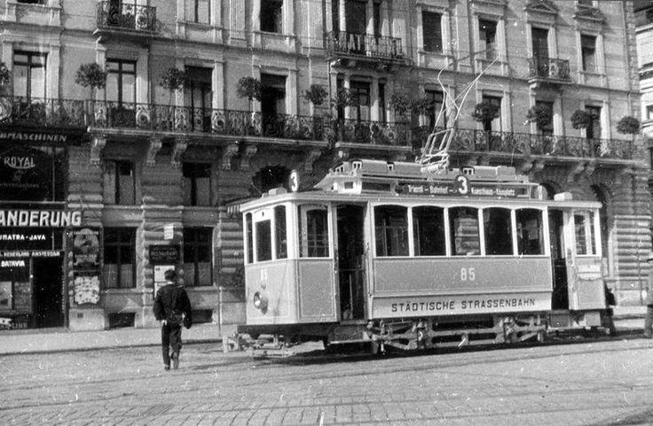 Historic Berlin tram.