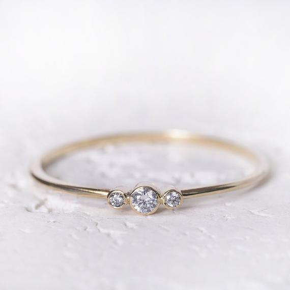 14k Gold Engagement Ring Diamond Wedding Ring Women Diamond Engagement Ring Dain In 2020 Simple Engagement Rings Dainty Engagement Rings Diamond Wedding Rings Women