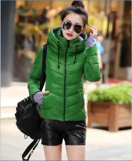 Winter Coat Women Jackets 2017 New Winter Jacket Women Parka Short Slim Thickening Warm Wadded Jacket Female Outerwear Red