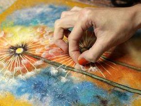 Kazan. MK wet felting bags with watercolors | Fair Masters - handmade, handmade