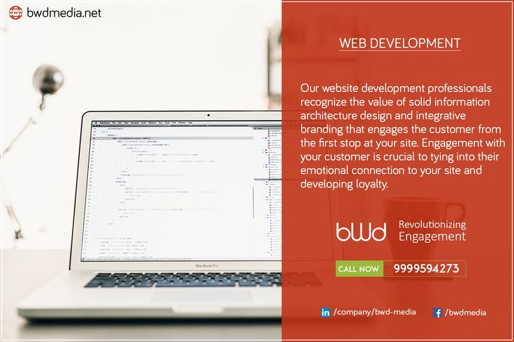 Our #websitedevelopment professionals recognize the value of solid information architecture design and integrative #branding that engages the #customer from the first stop at your site. Engagement with your customer is crucial to tying into their emotional connection to your site and developing loyalty. #bwdmedia