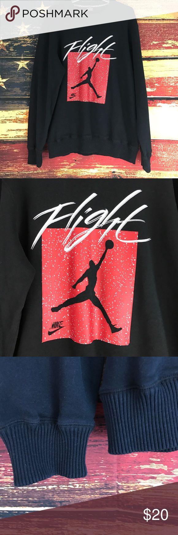 Men's Jordan Black Flight sweatshirt size XL Men's Black Flight Sweatshirt XL Nike Red, Black & white Jordan Sweaters