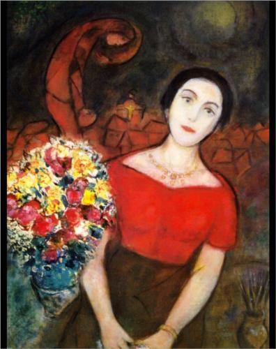 Portrait of Vava - Marc Chagall