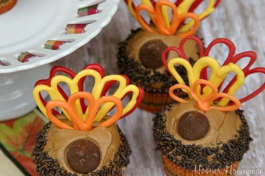 Cute turkey cupcakes!