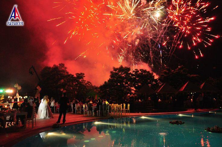 Aslanlar club düğün töreni havai fişek gösterisi 7