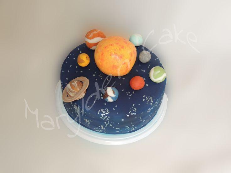 Gâteau système solaire