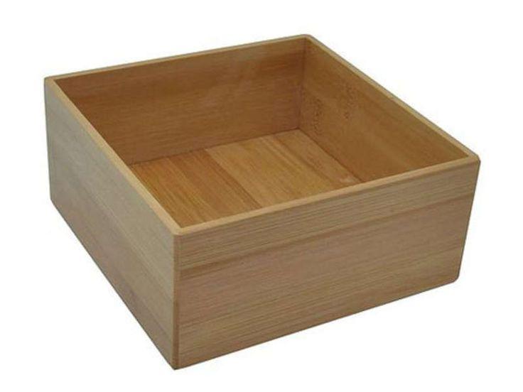 boite de rangement carr e grand mod le bambou vente de accessoires de salle de bain et wc. Black Bedroom Furniture Sets. Home Design Ideas