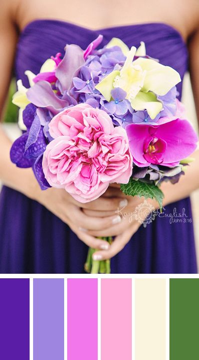 Purple and Pink dresses chasity i love these colors esp the purple