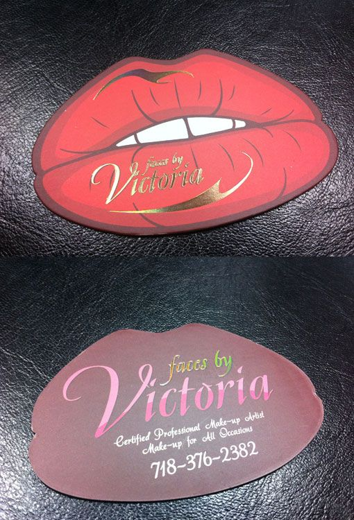 Lips Business Design - The business card was designed for neooptic, printed by Generation Press on 540gsm Fuchsia Pink card, foil blocked both sides. Nice card with a bold color …