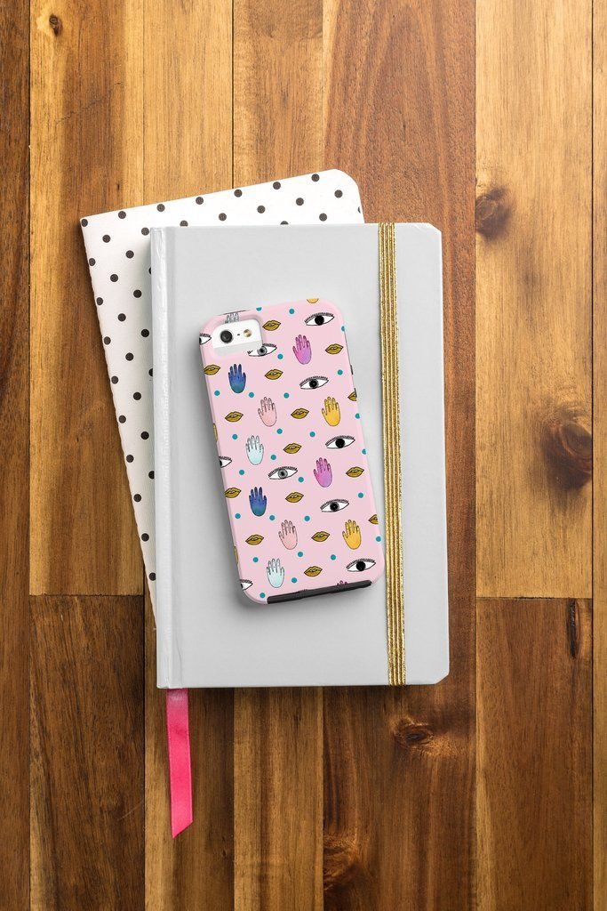 Hello Sayang Eyes Hands Lips Dots Cell Phone Case | DENY Designs Home Accessories