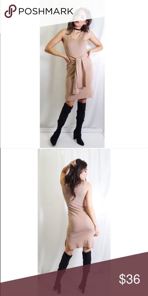Gorgeous Nude Dress Quality thick material, you will not be disappointed. I feel this runs tts compared to other items from this designer. Color is Camel | Offers welcome Tea n Cup Dresses