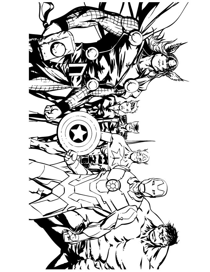Avengers Comic Coloring Page
