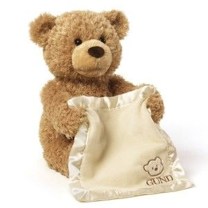 "Gund Stuffed Animals: Gund Peek-A-Boo Teddy Bear Animated Stuffed Animal It plays peek-a-boo by pulling the blanket up over its face and down again, while saying the cutest things like, ""Pick A Boo, Baby"" ""Hmmmmm! http://awsomegadgetsandtoysforgirlsandboys.com/gund-stuffed-animals/ Gund Stuffed Animals: Gund Peek-A-Boo Teddy Bear Animated Stuffed Animal"