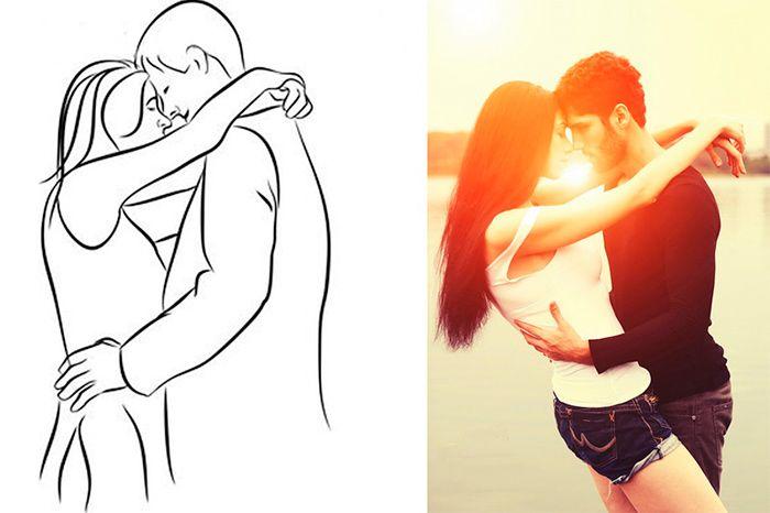 Картинки мужчина держит женщину на руках для срисовки