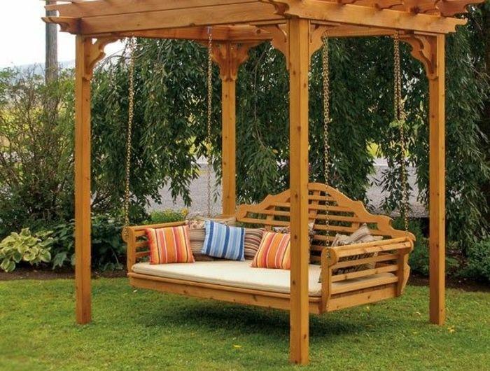Comment Choisir Le Meilleur Hamac Sur Pied Idees En Photos Balancoire Jardin Balancelle De Jardin Jardins En Bois