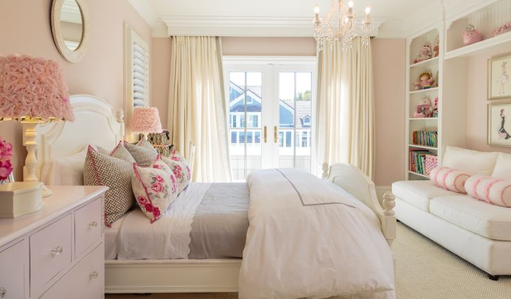 Elegant girl's bedroom designed for coastal living.  Tags: BarclayButeraInteriors, InteriorDesign, Beach, Coast