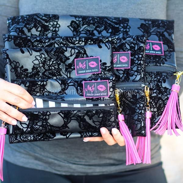 Makeup Junkie Bags In Leather And Lace in 2019
