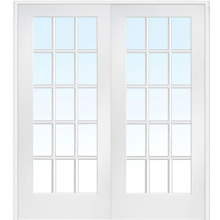 Milliken Millwork 72 in. x 80 in. Classic Clear Glass Full Lite Composite Double Prehung Interior French Door-Z009322BA - The Home Depot