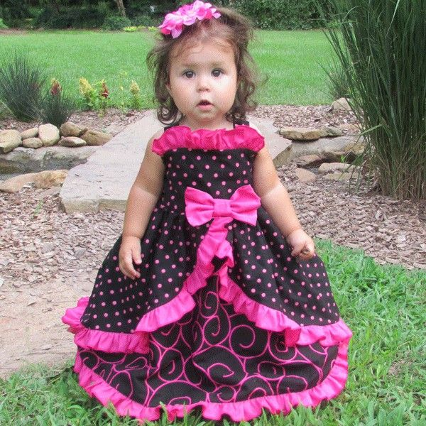 Cutest Ruffled Baby Party Dress Ever.  Birthday dress.  Southern belle baby dress.  Beautiful baby toddler dress.