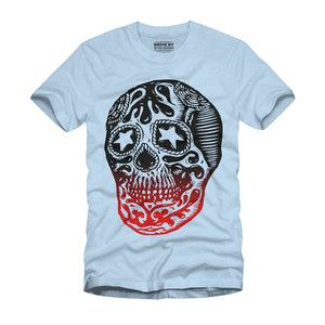 Sugar Skull Tee Light Blue, $22, now featured on Fab.