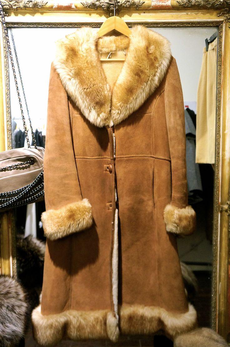 Splendid sheepskin overcoat