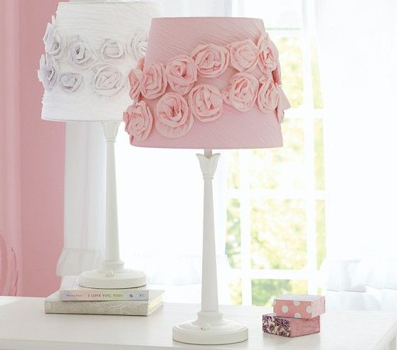 Rosette Lamp Perfect For A Shabby Chic Nursery