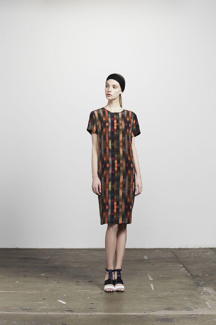 Nate printed silk crepe shift dress