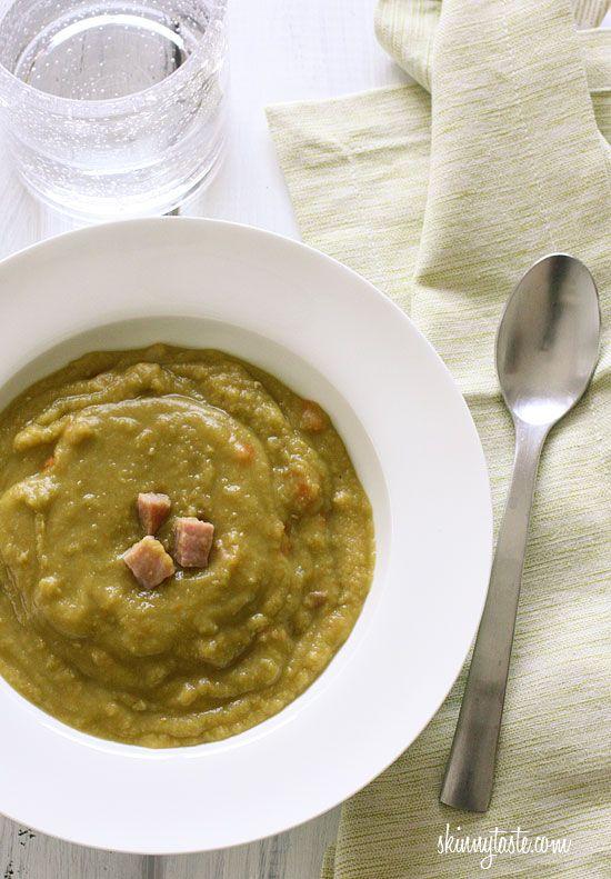 Pressure Cooker Split Pea Soup with Ham