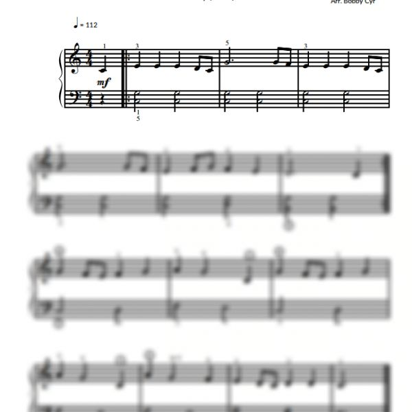 Vivaldi Spring - Easy Piano Sheet Music for Beginners / Piano Notion