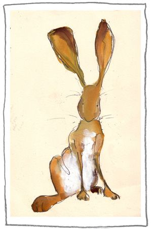 Deceptively simple illustration by Catherine Rayner. Her art makes me smile.