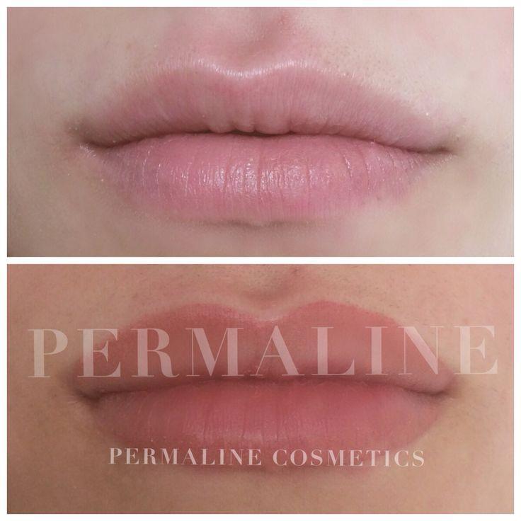 Lip permanent makeup. Cosmetic tattoo, lips. Immediately after procedure. | PermaLine Cosmetics ...