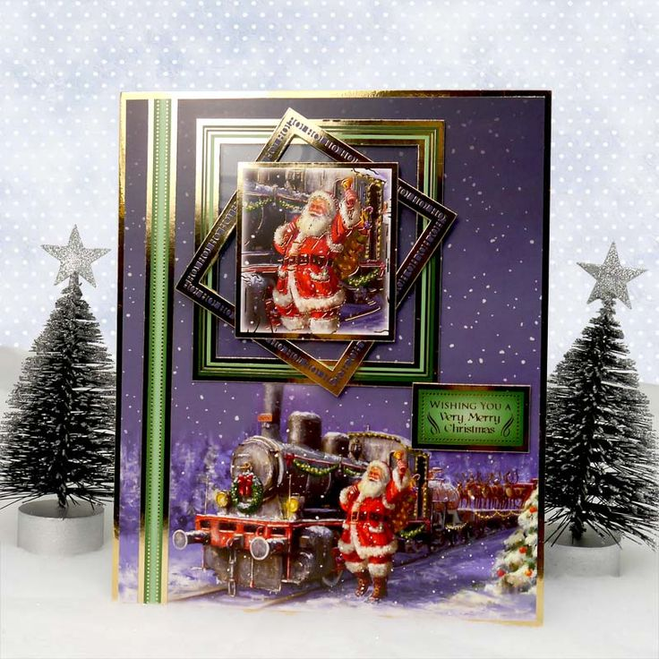 Traditional Christmas by Hunkydory Crafts. Card made using 'The Polar Express' topper set. Part of the 2014 Christmas Craftinator