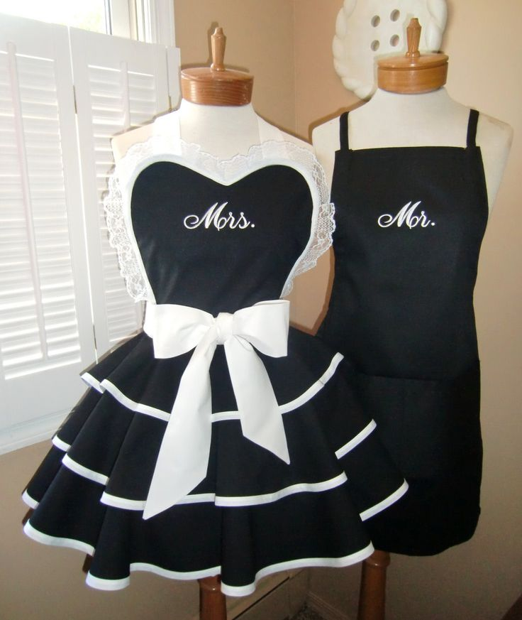 An apron on my wedding day so I don't spill food on my dress