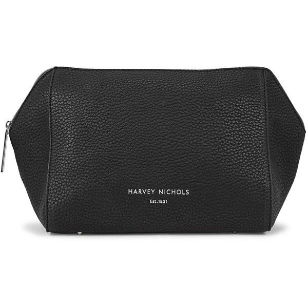 Harvey Nichols Large Black Cosmetics Case ($39) ❤ liked on Polyvore featuring beauty products, beauty accessories, bags & cases, travel kit, travel bag, purse makeup bag, cosmetic purse and travel toiletry case