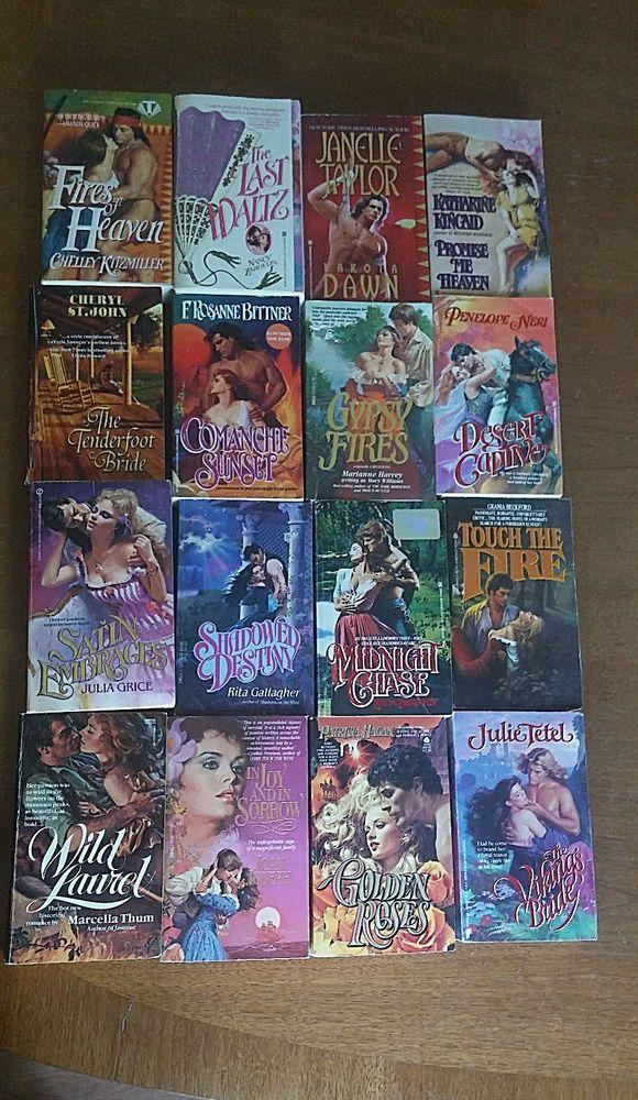 16 Lot Historical Romance Books Rita Gallagher Joan Joseph Julie Tetel + more