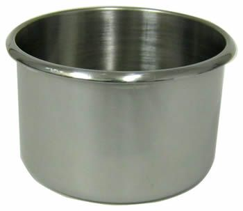 Jumbo Size Stainless Steel Cup Holders - Drop In - great for casino blackjack, craps, roulette, & poker tables.