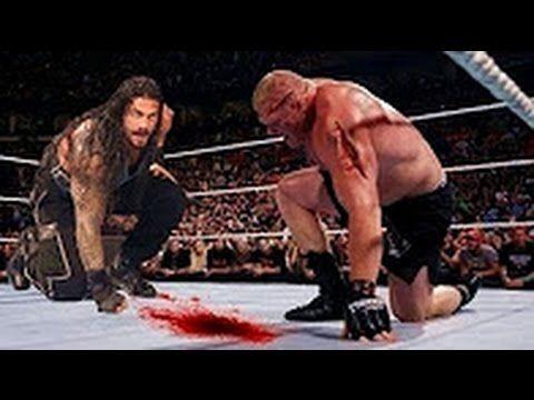 Bloodiest Match Ever - Roman Reigns vs Brock Lesnar   Most Brutal Fight ...