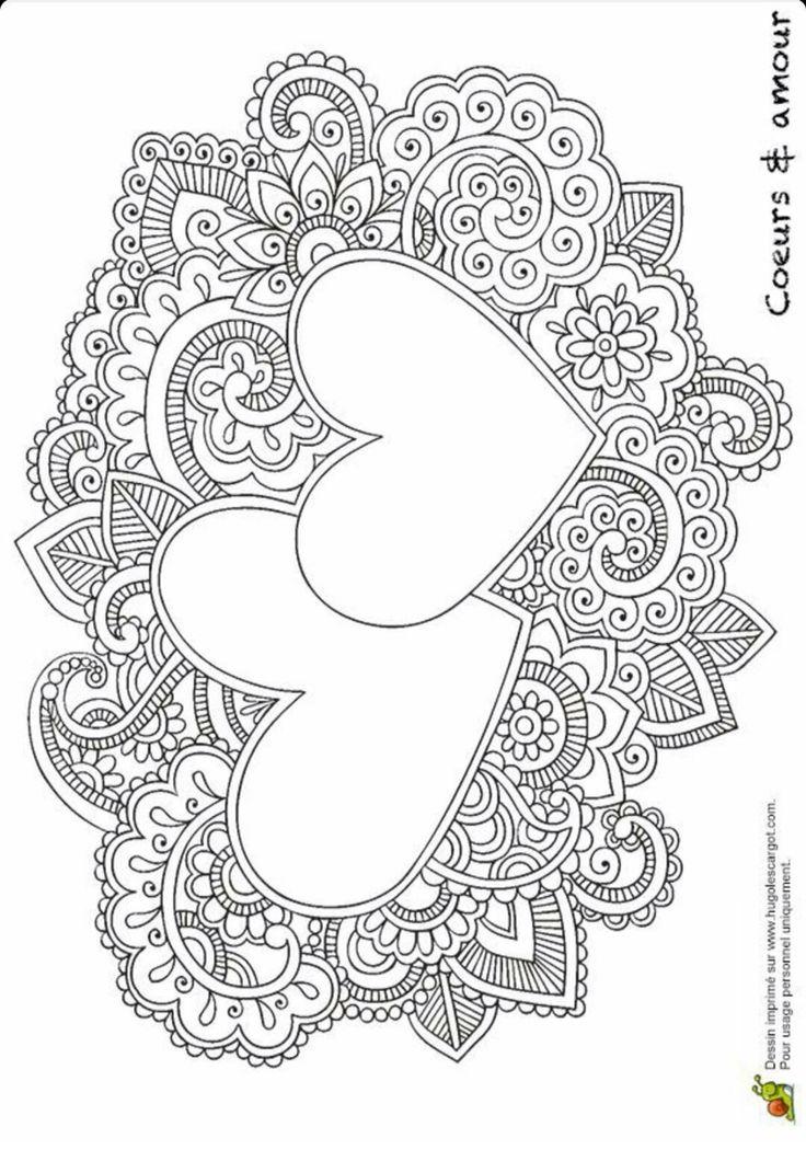 kleurplaat hartjes - Coloring Or Colouring