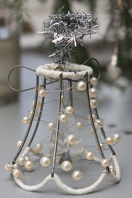 For Barbara's lamp shades-mini lampshade wire ornament......