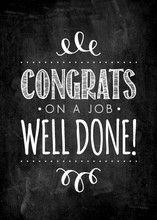 Typographic Chalkboard Congratulations Card