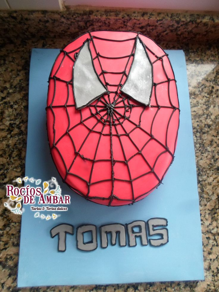 Torta Hombre Araña Cake Spiderman Rojo azul red and blue Face