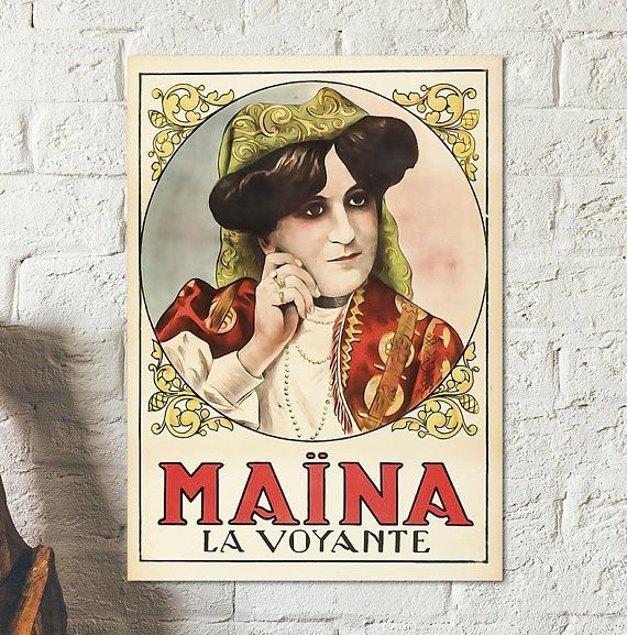 Maïna La Voyante Maina The Clairvoyant Poster Seen In